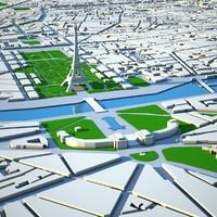 3d model paris city