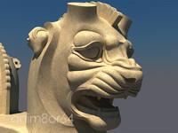 lion capital persepolis 3d max