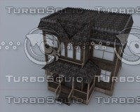 c4d cartoon house