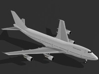 3dsmax commercial airplane b 747-200