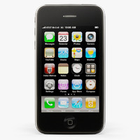 3d apple iphone 3gs phone model