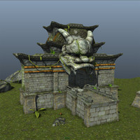 3d model dragon temple