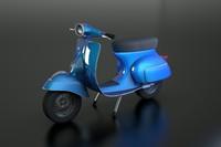 3d italian vespa model