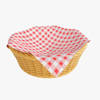 3d wicker basket cloth