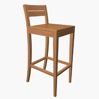free bar chair 3d model