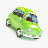 maya cartoon small retro car