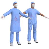 pack surgeon 3d model