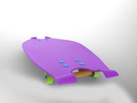3d model skate skateboard board