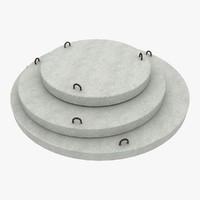 3d concrete materials model
