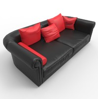 3ds max love seat couch