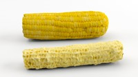 3dm realistic corn corncob