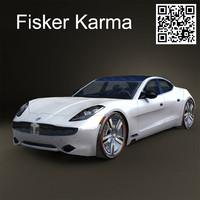 fisker karma 2012 3d model