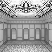 scene palace room 3d max