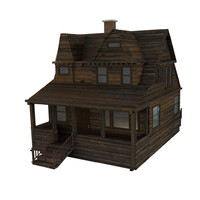 3ds max wood house