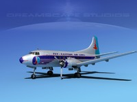propellers martin 202 airliners 3d obj