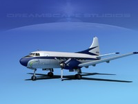 3d model of propellers martin 202 executive