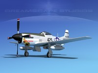 mustang cockpit p-51d 3d model