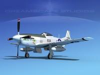 mustang cockpit p-51d 3d 3ds