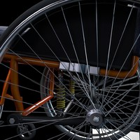 3d sport wheelchair model
