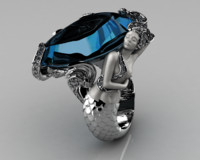 fashion ring 3D models