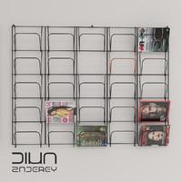 loft shelf 3d model
