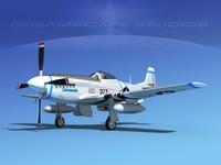 mustang cockpit p-51d 3d obj