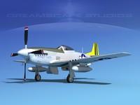mustang cockpit p-51d 3d dxf