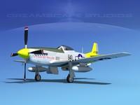 mustang cockpit p-51d 3d dwg