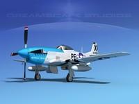 3d model of mustang cockpit p-51d