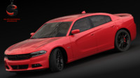 3d realistic dodge charger rt model