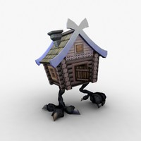 3d fairy charmed hut model