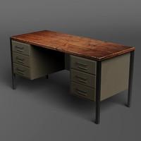 3d classic desk model