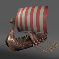 ship viking longship obj