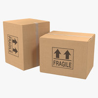 3d cardboard box 3