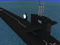 3d model missile ohio class submarines
