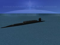 3d missile ohio class submarines model