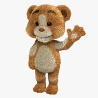 maya cartoon teddy bear rigged