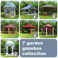 7 garden gazebos 3ds