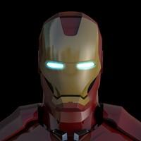 3d iron man model