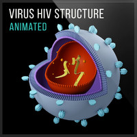 virus hiv 3d obj