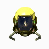 helmet astronaut 3d model