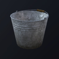3d bucket asset marmoset model