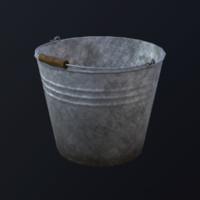 bucket asset marmoset 3d x