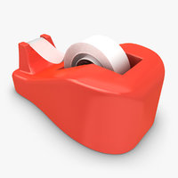 3d model realistic tape dispenser