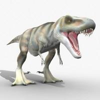 3d rigged t-rex dinosaur