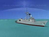 3d perry class frigates uss