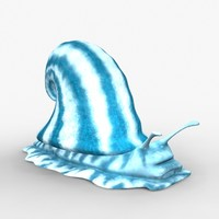 3d mollusk prehistoric model