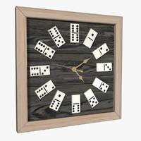 3dsmax domino clock