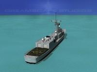 perry class frigates uss 3d obj