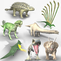 rigged mesozoic 3d model